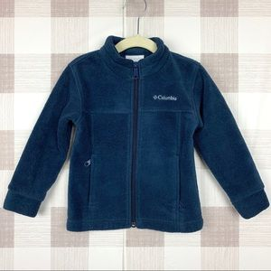 🔑 Columbia Navy Blue Fleece Zip Jacket Sz 3T